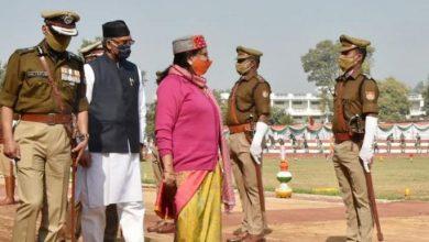 Photo of राज्यपाल ने 'राज्य स्थापना दिवस' की 20वीं वर्षगांठ पर पुलिस रैतिक परेड की सलामी ली