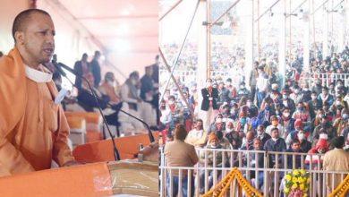 Photo of अयोध्या में 'किसान सम्मेलन' को सम्बोधित करते हुए: सीएम