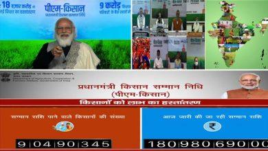 Photo of PM releases next instalment of financial benefit under PM Kisan Samman Nidhi