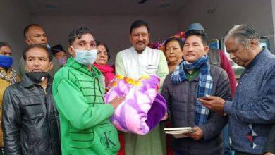 Photo of वीर गोरखा कल्याण समिति द्वारा गरीबों को कंबल वितरण किया गया