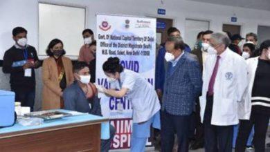 Photo of डॉ. हर्षवर्धन इस ऐतिहासिक दिवस पर नई दिल्ली के एम्स में डॉक्टरों और स्वास्थ्य कार्यकर्ताओं के साथ शामिल हुए