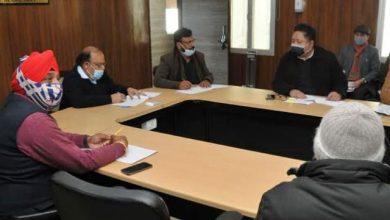 Photo of सचिवालय में 15 सूत्रीय कार्यक्रम क्रियान्वयन समिति की बैठक की अध्यक्षता करते हुएः मुख्यसचिव