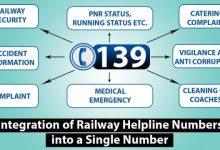 """Photo of भारतीय रेल ने यात्रा के दौरान सभी प्रकार की पूछताछ/शिकायतों/सहायता के लिए समेकित रेल मदद हेल्पलाइन नंबर """"139"""" की घोषणा की"""