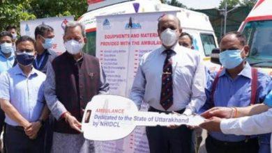 Photo of मुख्यमंत्री ने जनता को समर्पित की दो लाइफ सपोर्ट एंबुलेंस