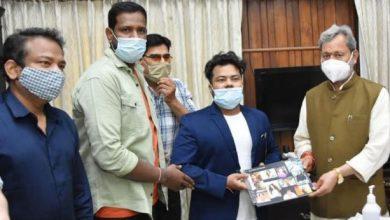 Photo of राधिका जी फिल्म्स के बैनर तले बन रही फिल्म की टीम ने CM तीरथ सिह रावत से मुलाकात की