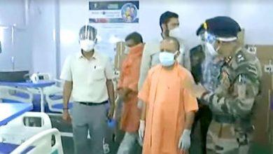 Photo of रक्षा मंत्रालय के डी0आर0डी0ओ0 द्वारा 750 बेड के बनाये गये कोविड अस्पताल का निरीक्षण करते हुएः CM