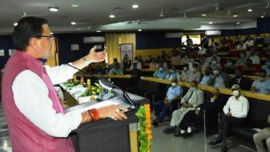 Photo of डॉ. भीमराव अम्बेडकर चेयर स्थापना उद्घाटन कार्यक्रम में प्रतिभाग कर सम्बोधित करते हुएः सीएम