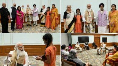 Photo of PM receives first copy of the book, 'The Ramayana of Shri Guru Gobind Singh Ji' penned by Late Mrs. Baljit Kaur Tulsi Ji
