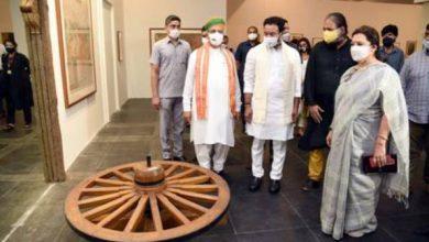 Photo of केंद्रीय संस्कृति मंत्री जी. किशन रेड्डी और संस्कृति राज्य मंत्रियों अर्जुन राम मेघवाल और श्रीमती मीनाक्षी लेखी ने एनजीएमए का भ्रमण किया
