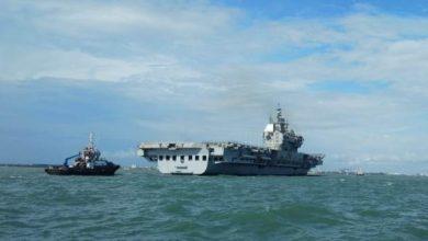 Photo of स्वदेशी विमानवाहक पोत {आईएसी(पी71)} 'विक्रांत' पहली सफल समुद्री यात्रा के बाद लौटा
