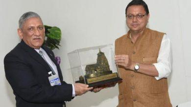 Photo of मुख्यमंत्री से मिले सीडीएस जनरल विपिन रावत