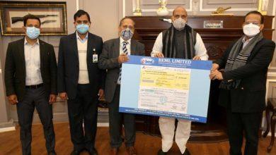 Photo of BEML hands over dividend worth Rs 5.625 crore to Raksha Mantri Shri Rajnath Singh