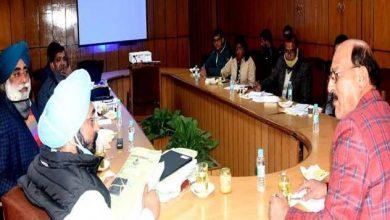 Photo of राष्ट्रीय खाद्य प्रंसस्करण मिशन योजना के सम्बन्ध में विचार विमर्श करते हुएः सुबोध उनियाल