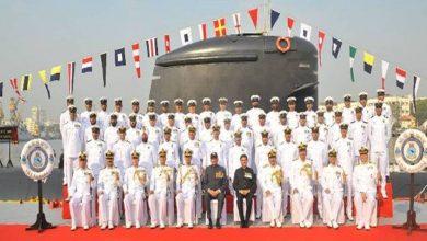 Photo of तीसरी स्कॉर्पीन श्रेणी की पनडुब्बी आइएनएस करंज को नौसेना के जंगी बेड़े में शामिल किया गया
