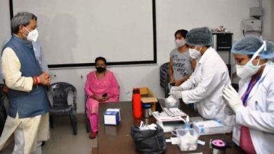 Photo of मुख्यमंत्री ने किया टीकाकरण कार्यक्रम की व्यवस्थाओं का निरीक्षण।