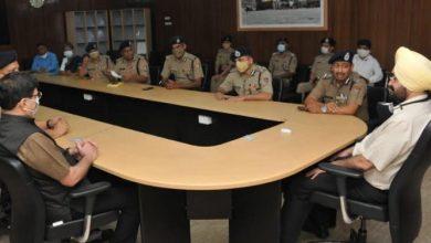 Photo of पुलिस विभाग के समस्त उच्चाधिकारियों ने शिष्टाचार भेंट करते हुएः मुख्य सचिव एस.एस. संधू