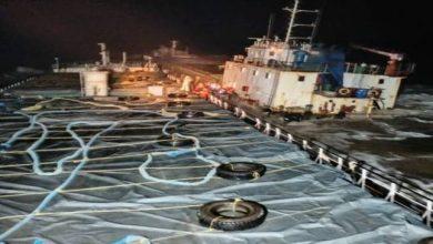 Photo of Indian Coast Guard rescues 12 crew of MV Kanchan in distress off Umargam, Gujarat