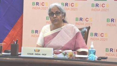 Photo of वित्त मंत्री श्रीमती निर्मला सीतारमण ने ब्रिक्स के वित्त मंत्रियों और केंद्रीय बैंकों के गवर्नरों की दूसरी बैठक की वर्चुअल माध्यम से अध्यक्षता की