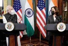 Photo of प्रधानमंत्री श्री नरेन्द्र मोदी और संयुक्त राज्य अमेरिका की उपराष्ट्रपति कमला हैरिस के बीच बैठक