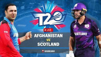 Photo of T20 World Cup: अफगानिस्तान और स्कॉटलैंड के बीच खेला जाएगा मुकाबला, शारजाह में होगा मैच
