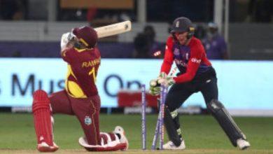 Photo of टी20 वर्ल्ड कप: वेस्टइंडीज की टूर्नामेंट में खराब शुरुआत, इंग्लैंड ने 55 रनों पर किया ऑल आउट
